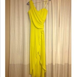 BCBG MAXAZRIA Neon Yellow Gown